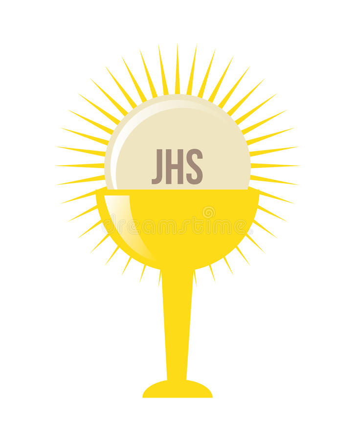 Conception d'eucharistie illustration stock