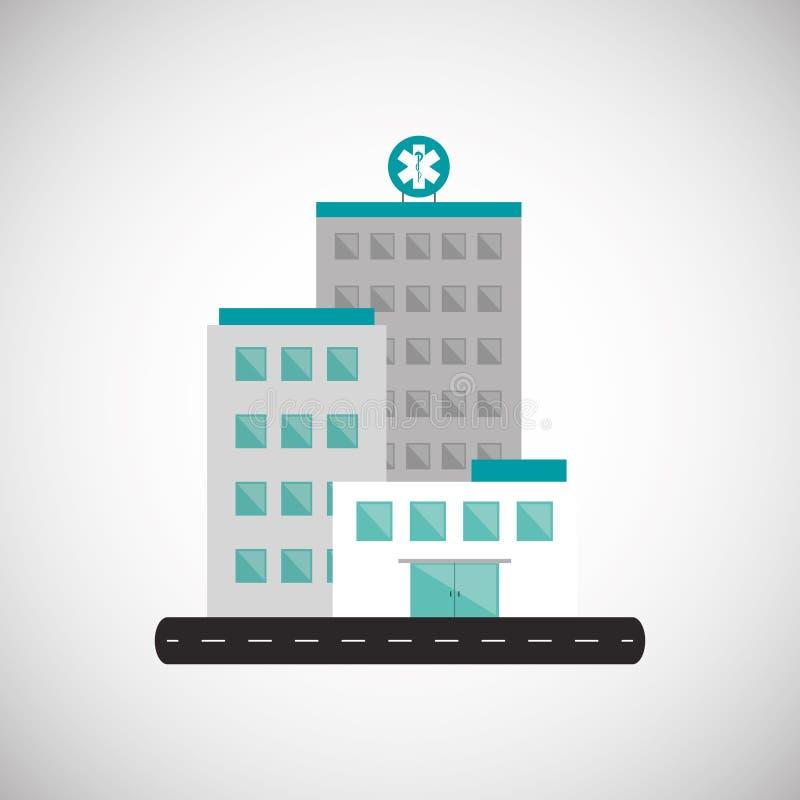 Conception d'hôpital Centre sain concept de secours illustration stock