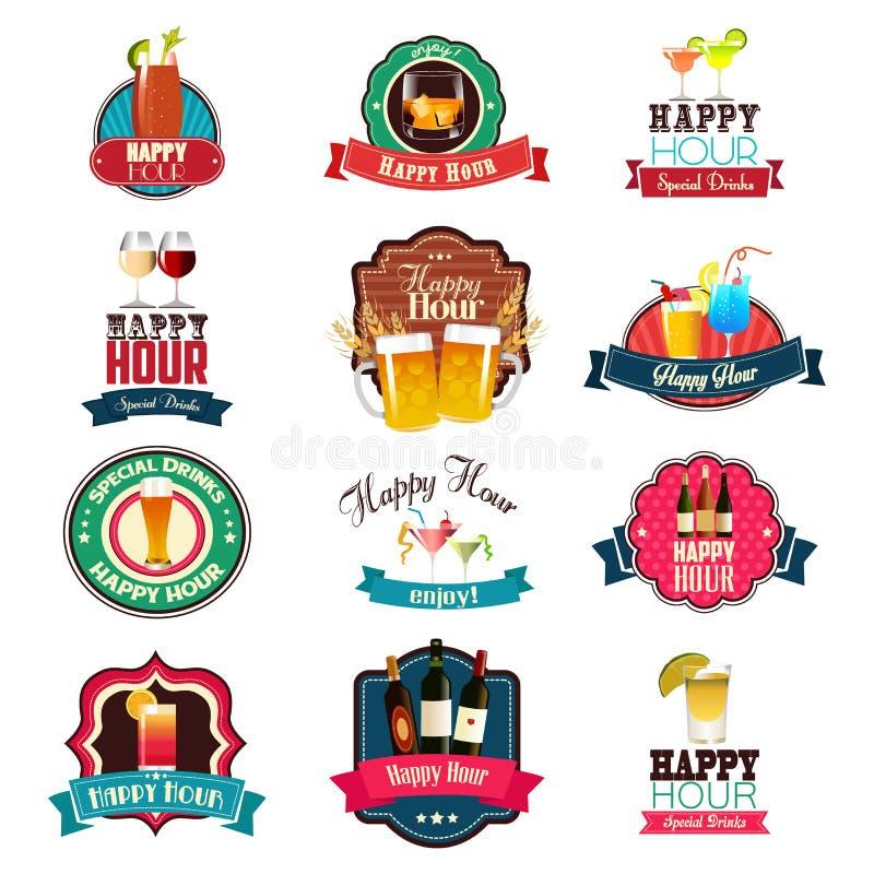 Download Conception D'heure Heureuse Illustration de Vecteur - Illustration du insigne, bière: 77163116