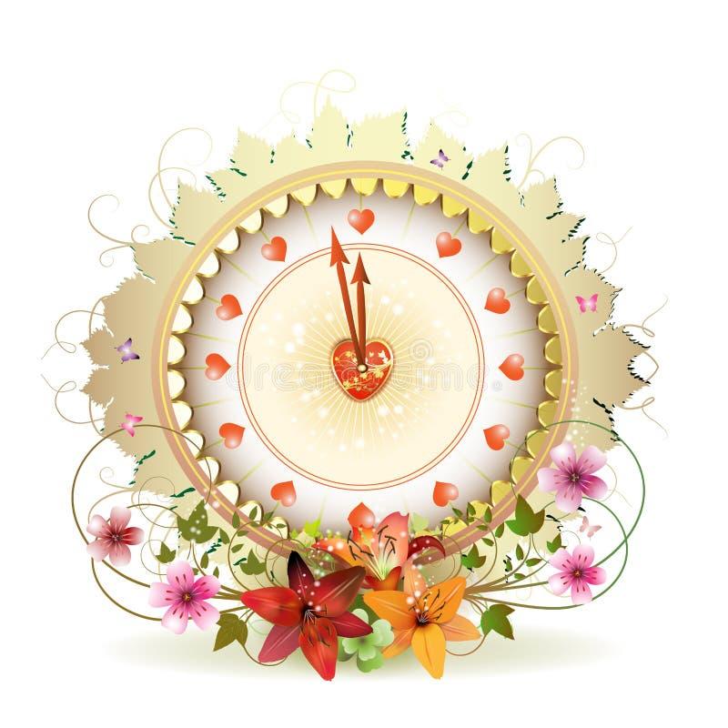 Conception d'horloge illustration de vecteur