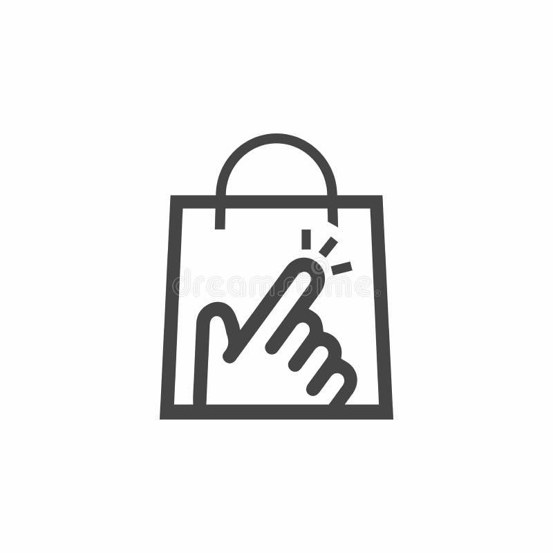 Conception d'icône de logo de boutique de clic illustration de vecteur