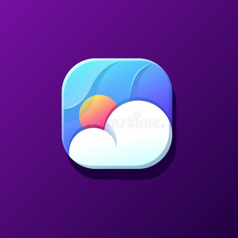Conception d'icône de nuage prête à employer illustration stock