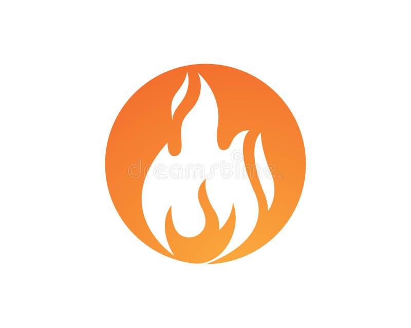 conception d'icône de vecteur de flamme du feu illustration de vecteur