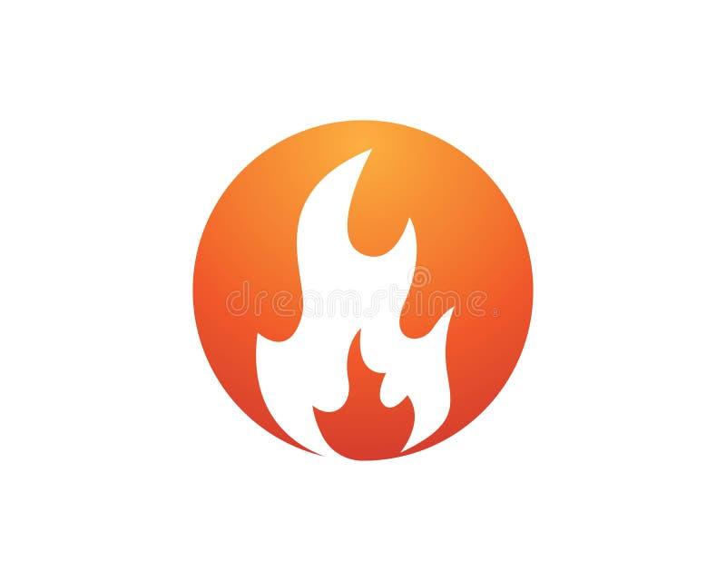 conception d'icône de vecteur de flamme du feu illustration libre de droits