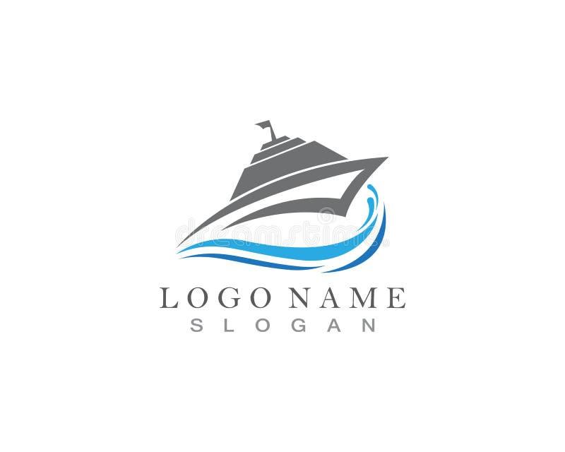 Conception d'icône de vecteur de Logo Template de bateau de croisière illustration libre de droits