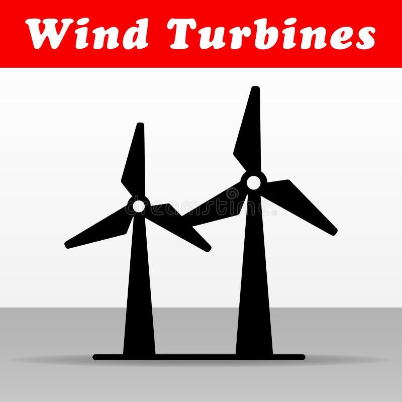 Conception d'icône de vecteur de turbines de vent illustration de vecteur