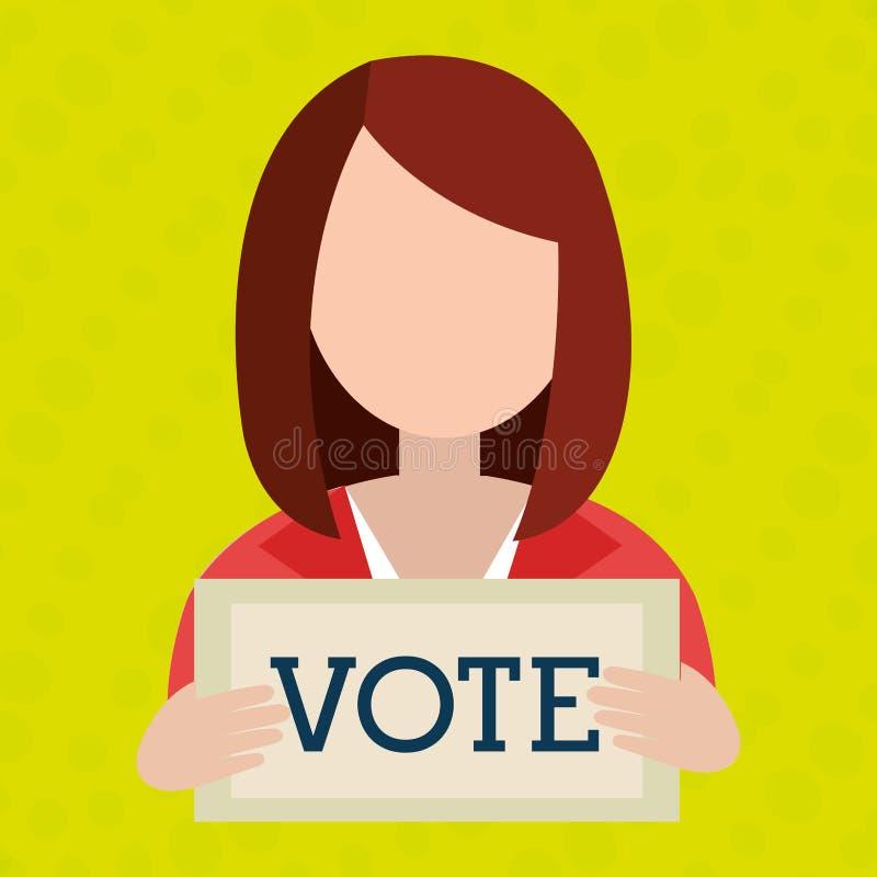 conception d'icône d'élections illustration stock