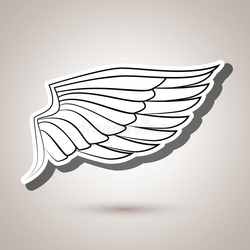 conception d'icône d'ailes illustration de vecteur
