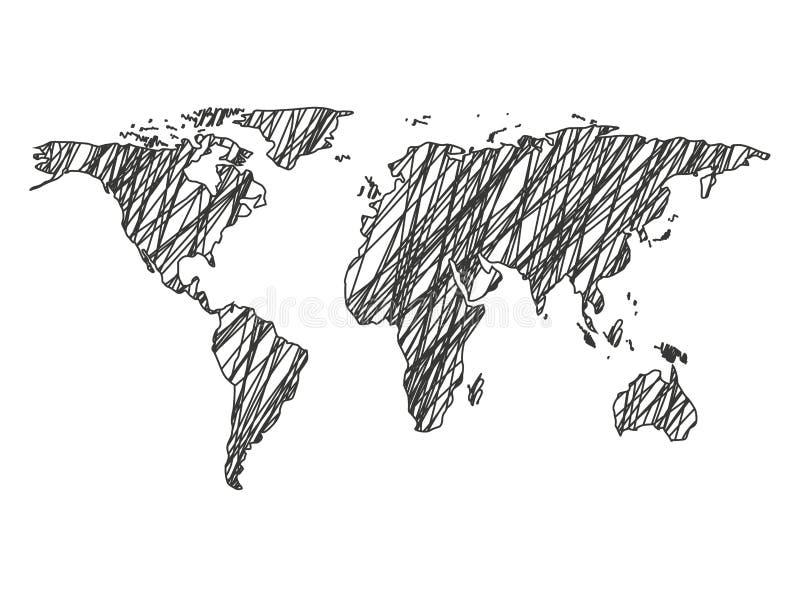 conception d'icône d'isolement par carte de la terre illustration libre de droits
