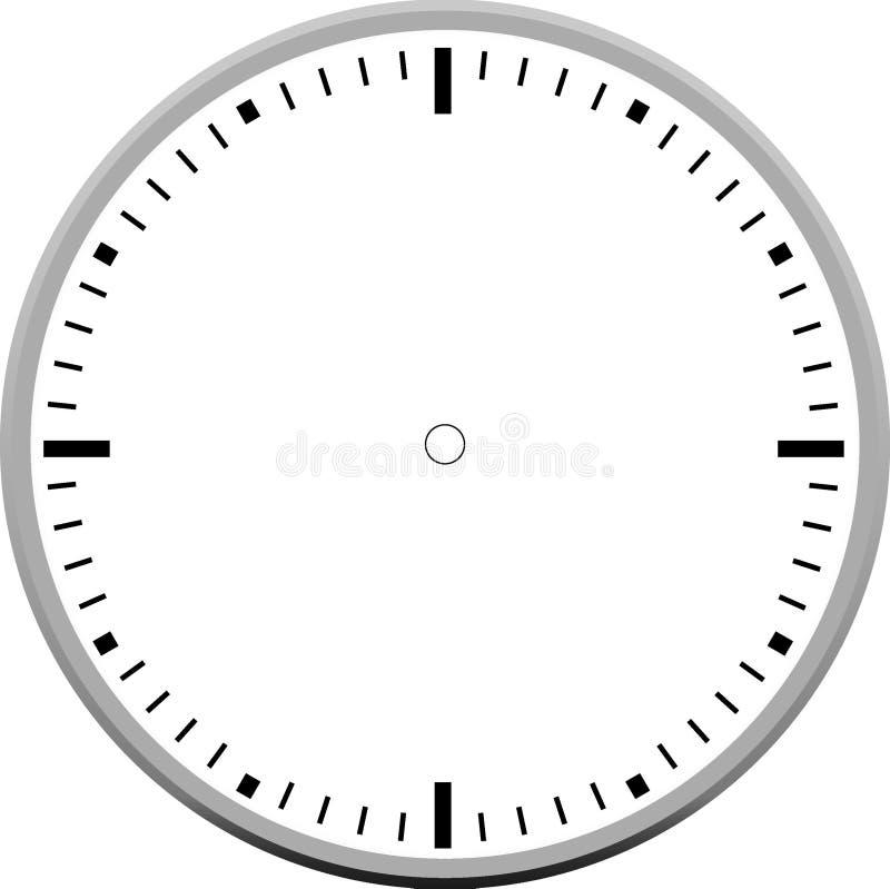 Conception d'icône de blanc de visage d'horloge images libres de droits
