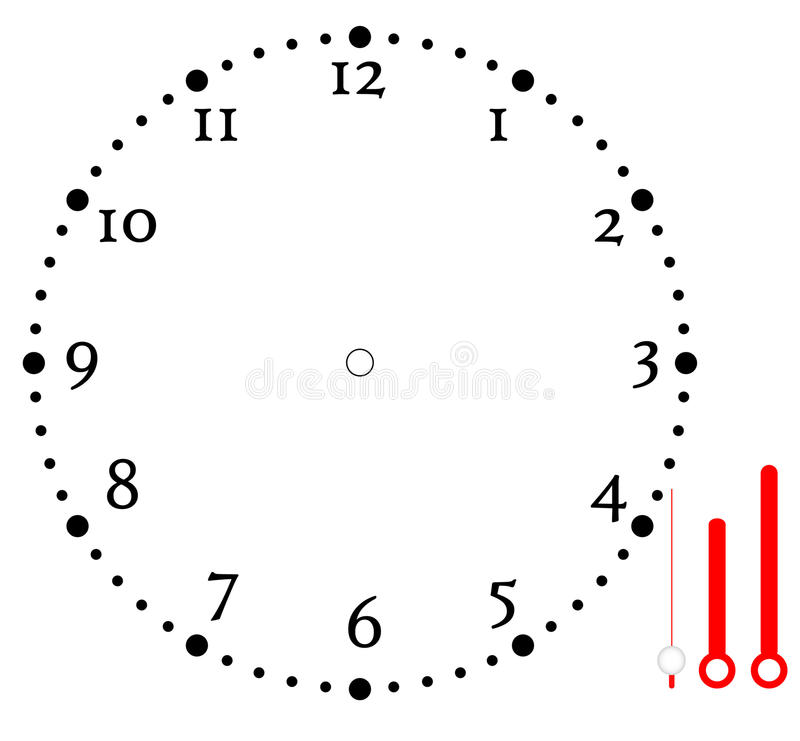 Conception d'icône de blanc de visage d'horloge photos libres de droits