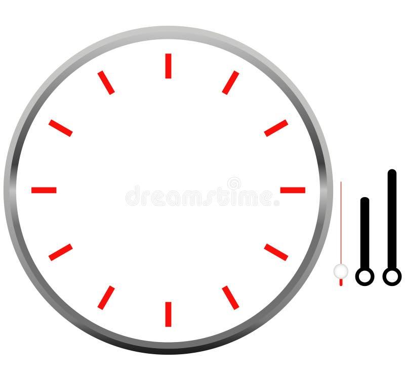 Conception d'icône de blanc de visage d'horloge photographie stock