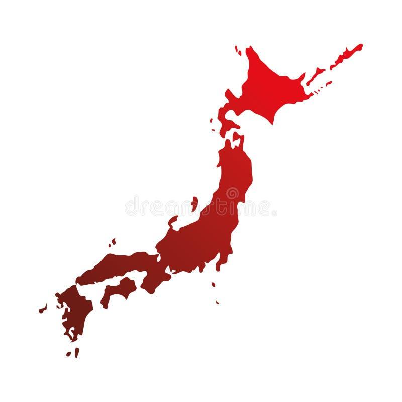 Conception d'icône de carte de pays du Japon illustration libre de droits