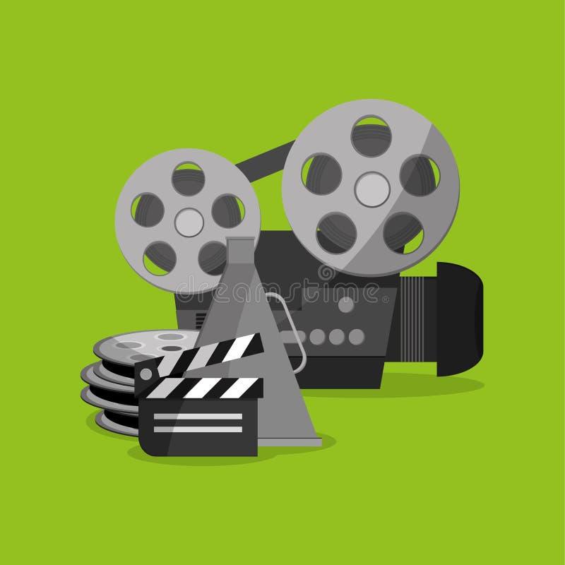 Conception d'icône de cinéma illustration libre de droits