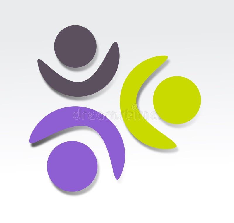 Conception d'icône de coopération illustration stock