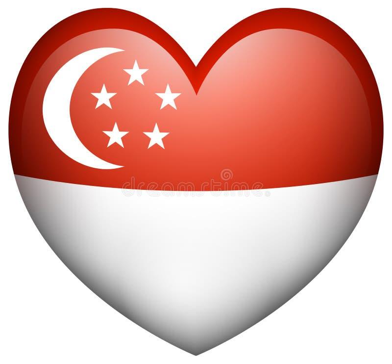 Conception d'icône de drapeau pour Singapour illustration de vecteur