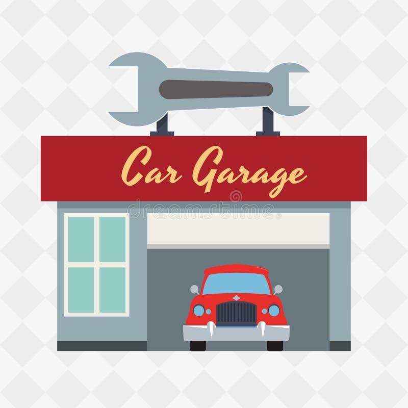 Conception d 39 ic ne de garage illustration stock image for W garage assurance