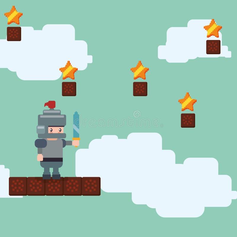 Conception d'icône de jeu vidéo illustration de vecteur