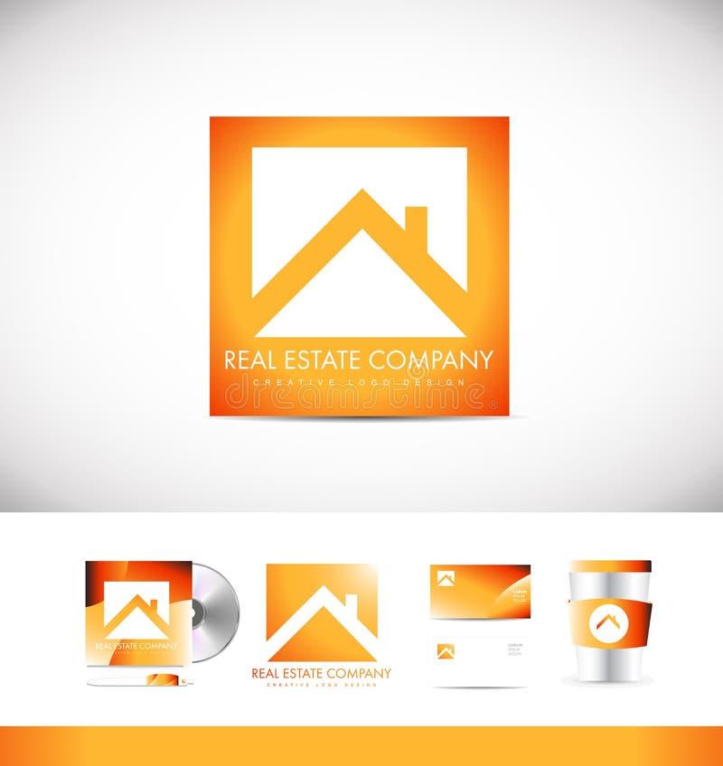 Conception d'icône de logo d'immobiliers illustration stock