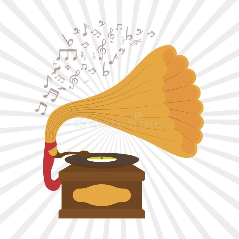 Conception d'icône de musique illustration stock