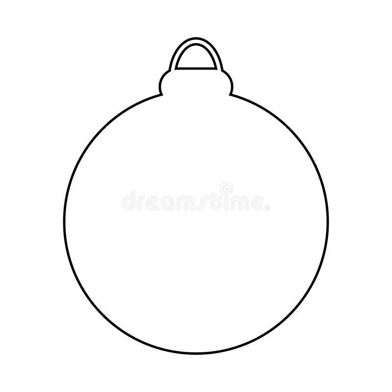 Conception d'icône de symbole de vecteur de silhouette de babiole de Noël illustration stock