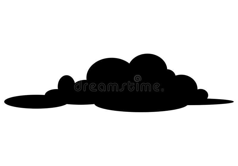 Conception d'icône de symbole de vecteur de silhouette de nuage illustration stock