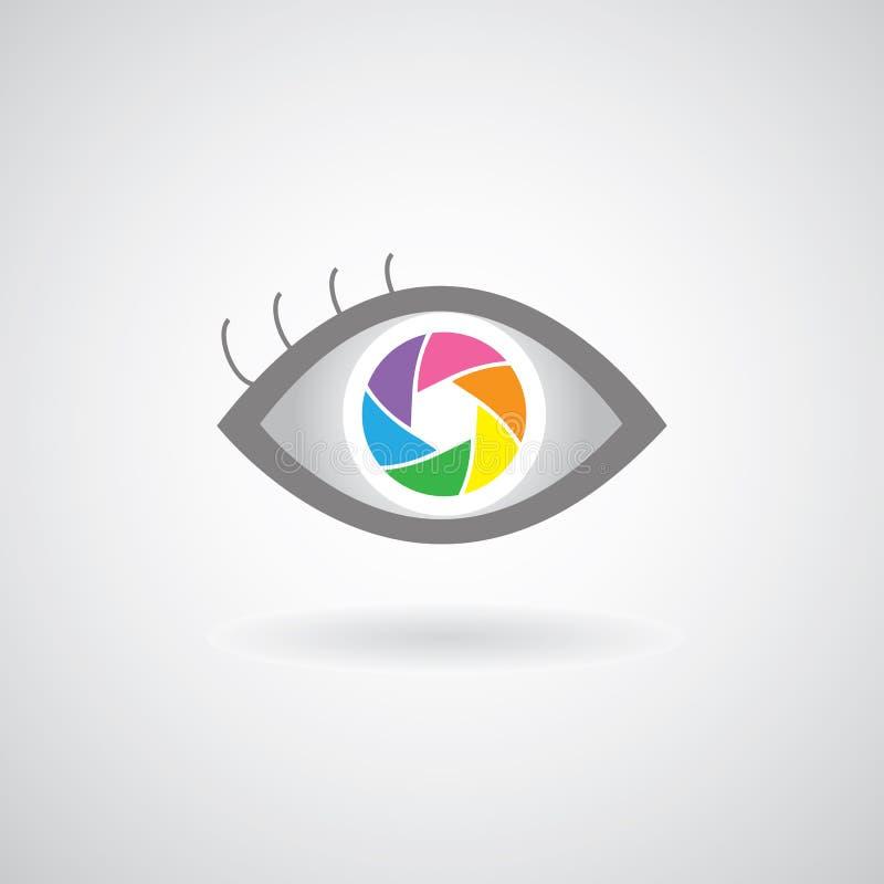 Conception d'icône de volet d'oeil illustration de vecteur