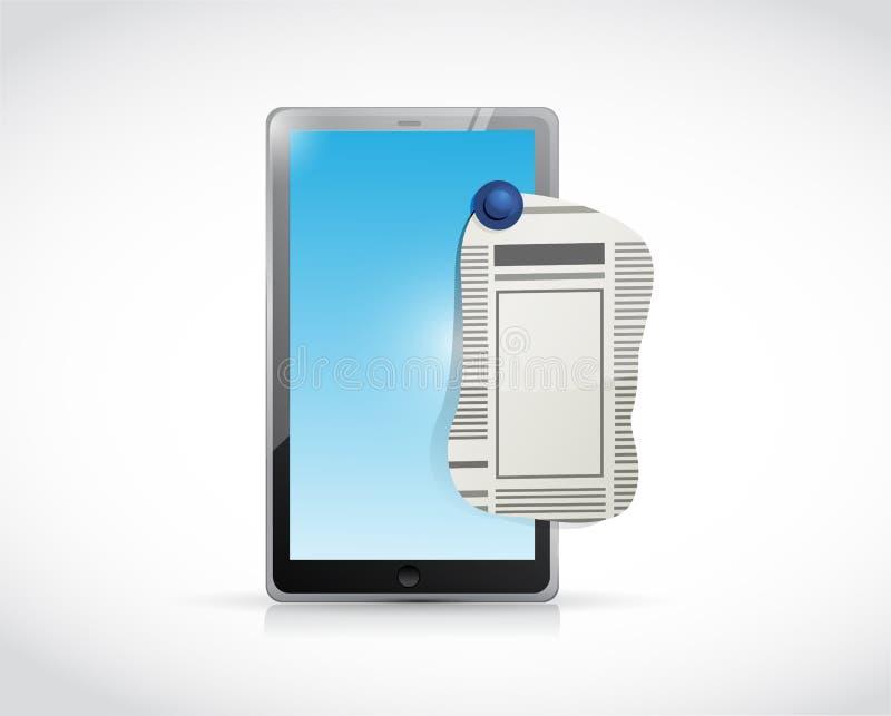 Conception d'illustration d'annonce petite de Tablette illustration de vecteur