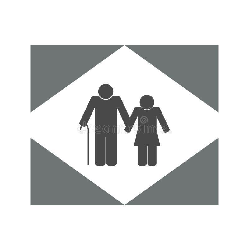 Conception d'illustration d'icône de personnes plus âgées Icône pluse âgé de couples illustration stock