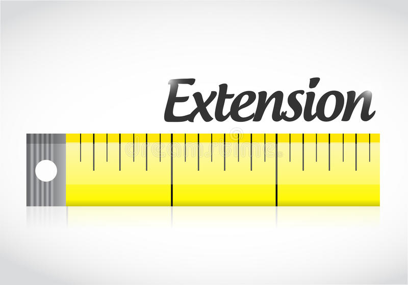 Conception d'illustration de bande de mesure d'extension illustration libre de droits