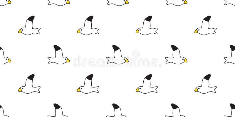 Conception d'illustration de bande dessinée de papier peint de tuile de fond de répétition d'isolement par écharpe sans couture d illustration stock