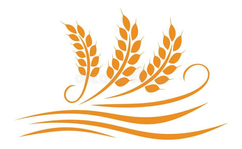 Conception d'illustration de blé d'agriculture - vecteur illustration stock
