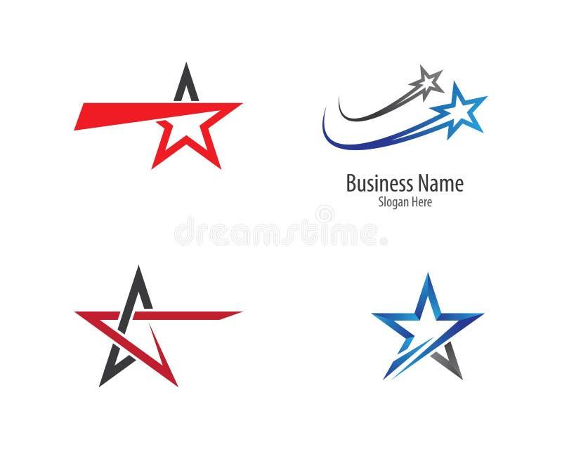 Conception d'illustration de calibre de logo d'?toile photo stock