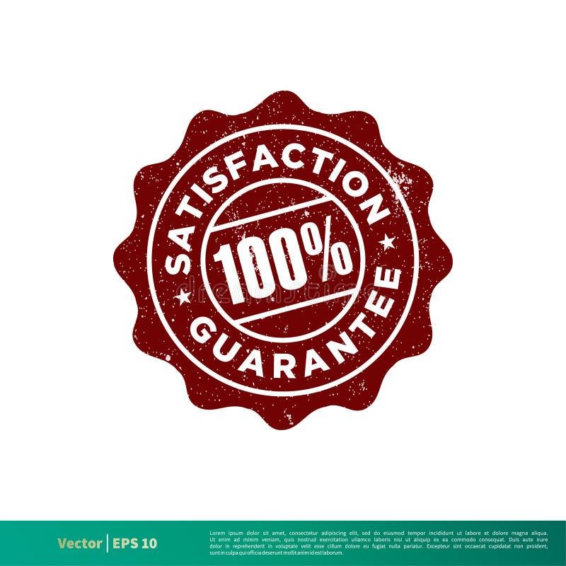 Conception d'illustration de calibre de vecteur d'emblème de timbre de joint de garantie de satisfaction Vecteur ENV 10 illustration stock