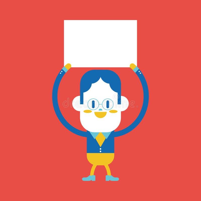 Conception d'illustration de caractère Bande dessinée de conseil d'homme d'affaires, ENV illustration libre de droits