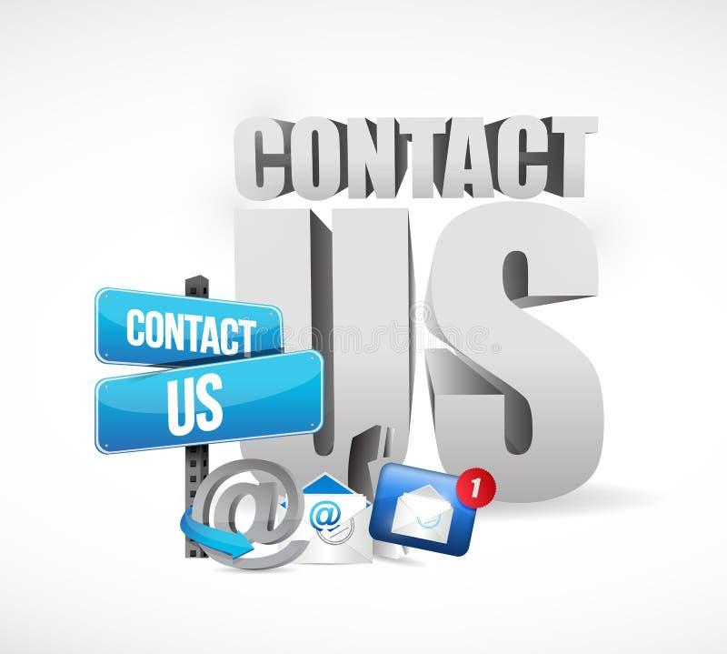 Conception d'illustration de concept d'email de contactez-nous illustration stock