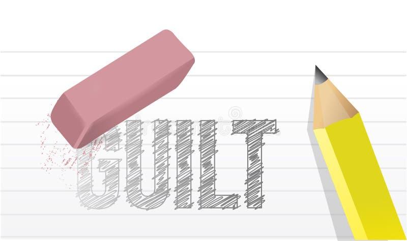 Conception d'illustration de concept de culpabilité d'effacement illustration de vecteur