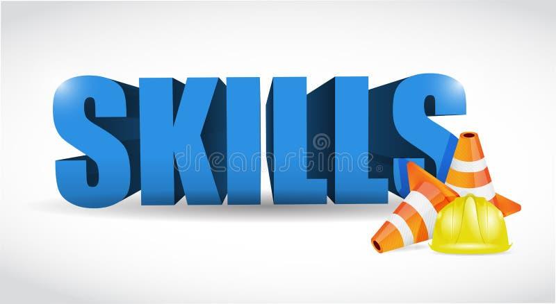 Conception d'illustration de concept de qualifications de bâtiment illustration stock