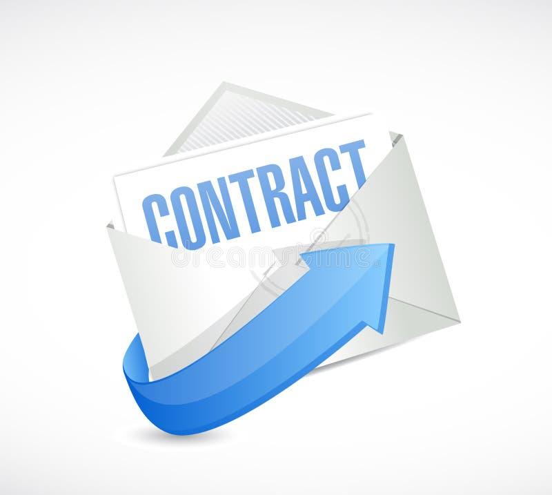 Conception d'illustration de courrier de contrat illustration libre de droits