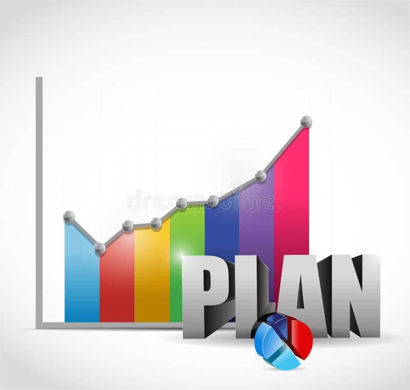Conception d'illustration de graphique de gestion de plan illustration de vecteur