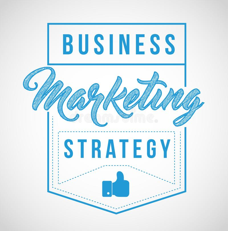 conception d'illustration de joint de timbre de signe de stratégie marketing d'affaires illustration libre de droits