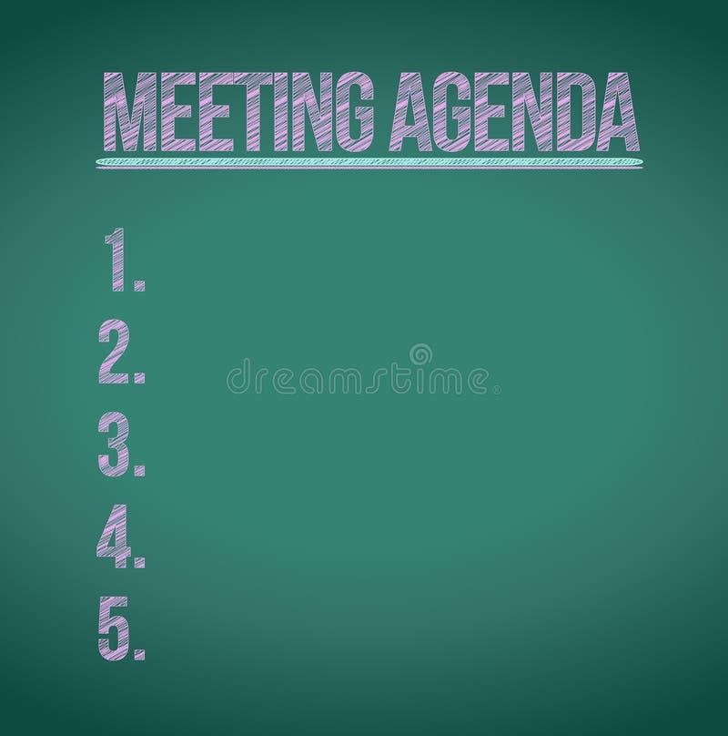 Conception d'illustration de liste d'ordre du jour de réunion illustration de vecteur