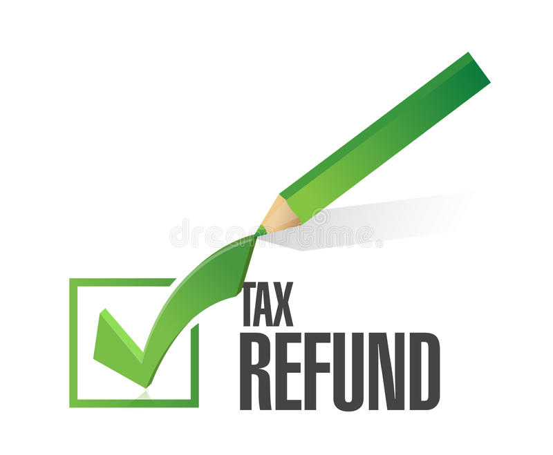 conception d'illustration de liste de contrôle de remboursement d'impôt fiscal illustration de vecteur