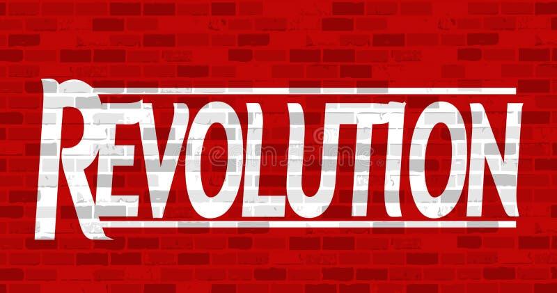conception d'illustration de message de révolution illustration stock
