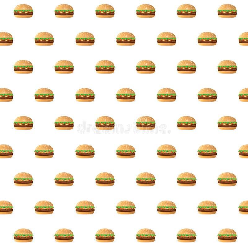 conception d'illustration de modèle de cheeseburgers d'aliments de préparation rapide illustration libre de droits