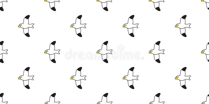 Conception d'illustration de papier peint de tuile de fond de répétition d'isolement par écharpe sans couture de bande dessinée d illustration libre de droits