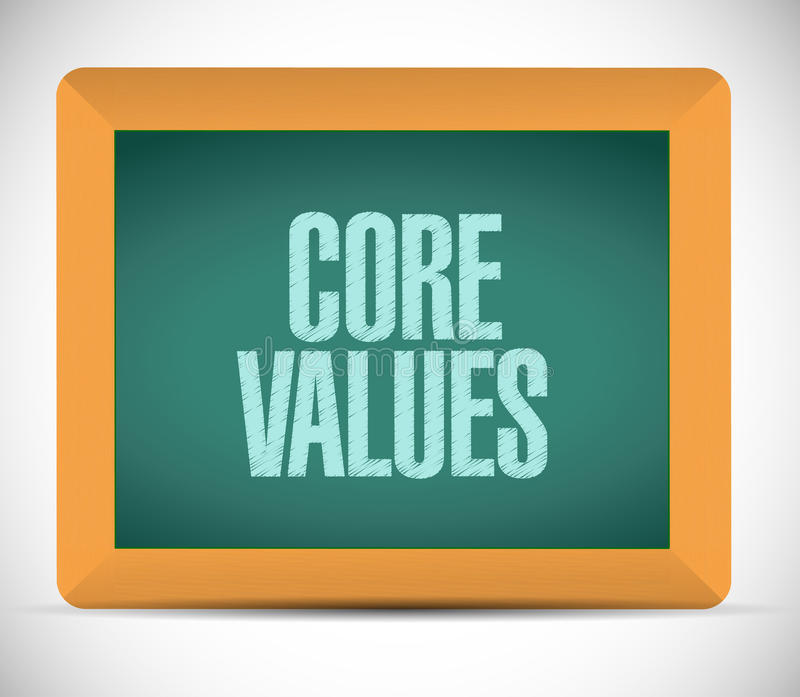conception d'illustration de signe de conseil de valeurs de noyau illustration libre de droits
