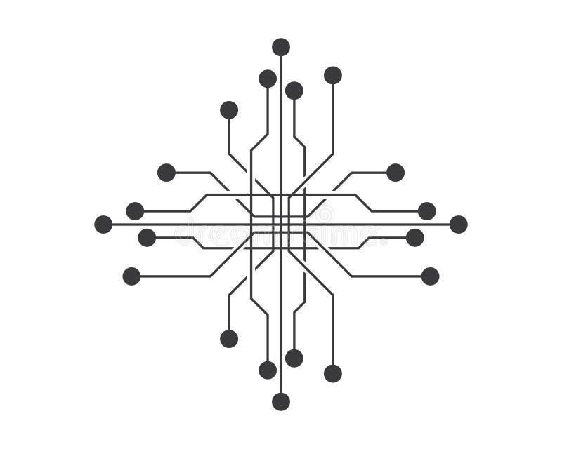 Conception d'illustration de symbole de circuit illustration de vecteur