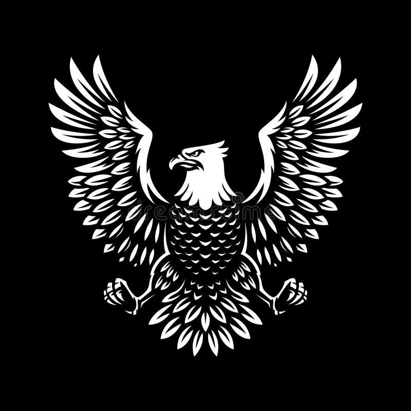Conception d'illustration de symbole d'Eagle sur le fond foncé illustration libre de droits