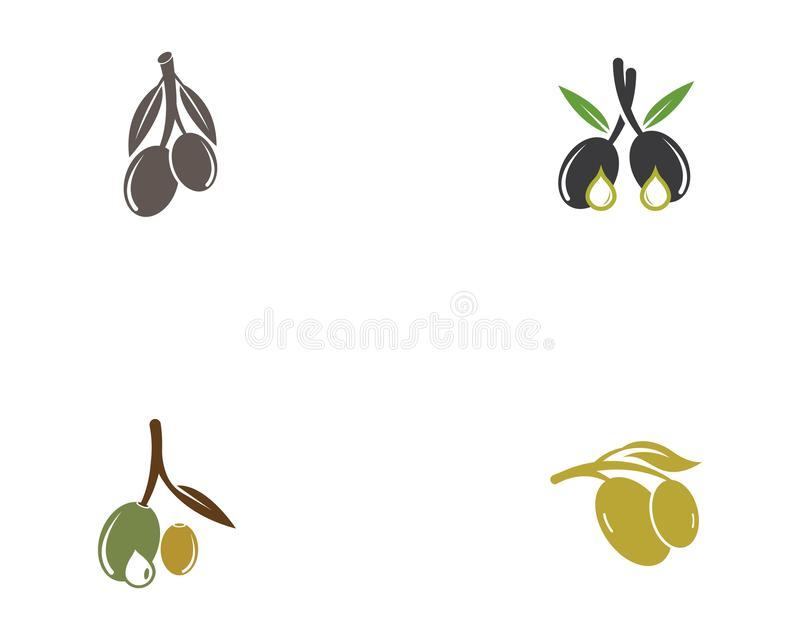 Conception d'illustration d'icône de logo d'huile d'olive illustration de vecteur
